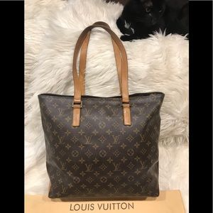 Authentic Louis Vuitton Cabas Mezzo #5.5L
